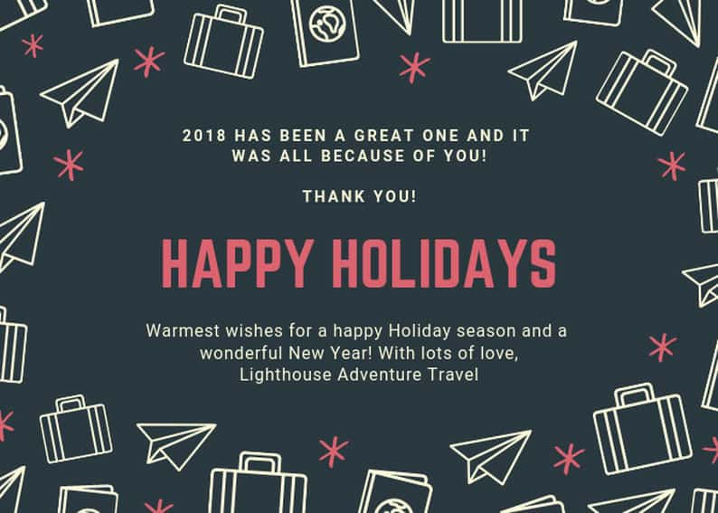 happy new year 2019 from lighthouse adventure travel