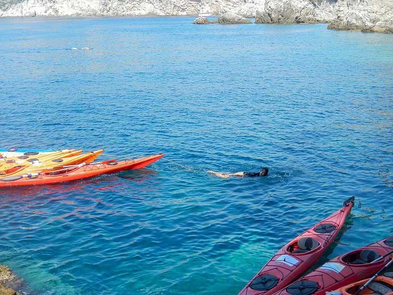 sea kayaking in the island of kolocep dubrovnik croatia