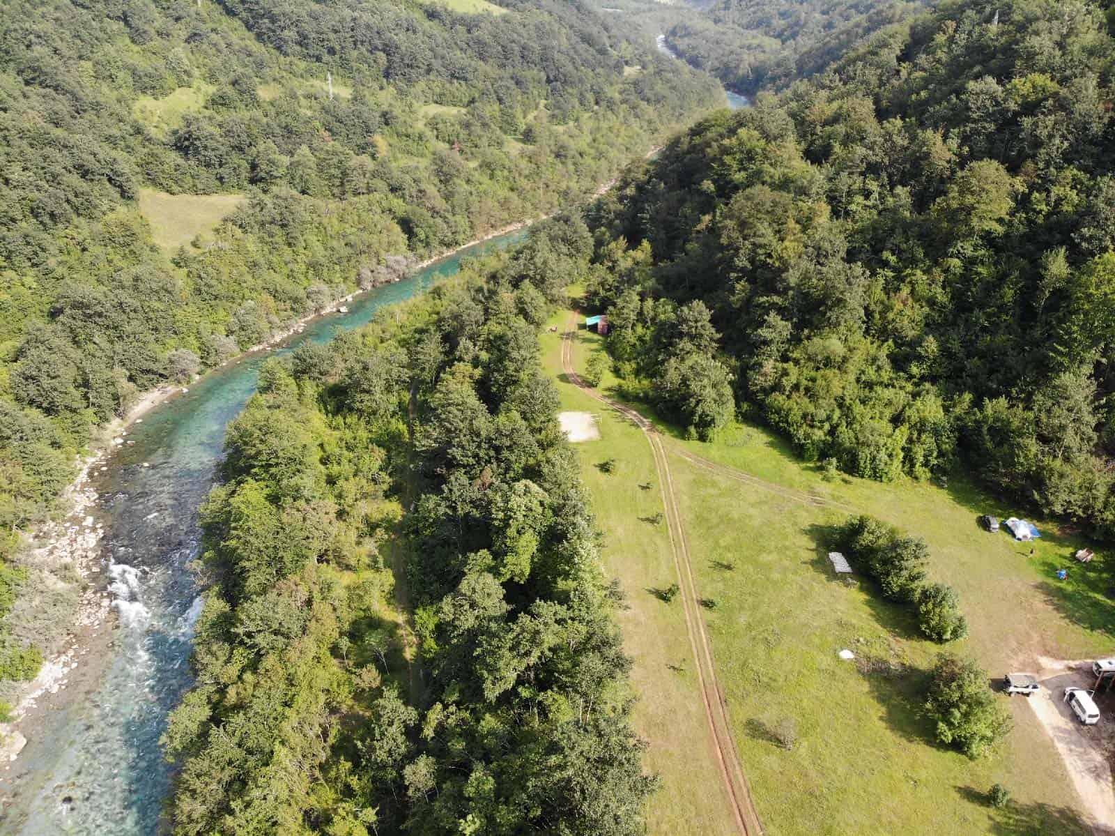 riverside camp tara river canyon montenegro