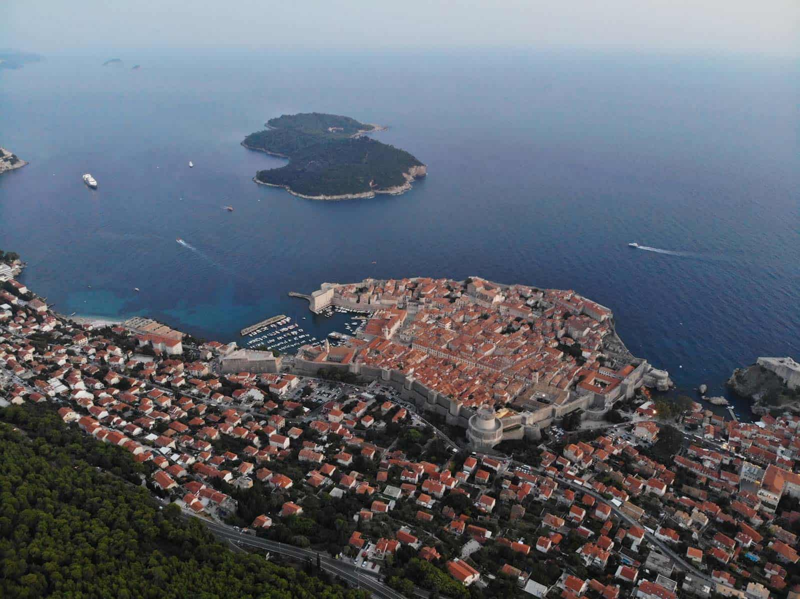 dubrovnik croatia adriatic sea viewpoint lokrum island