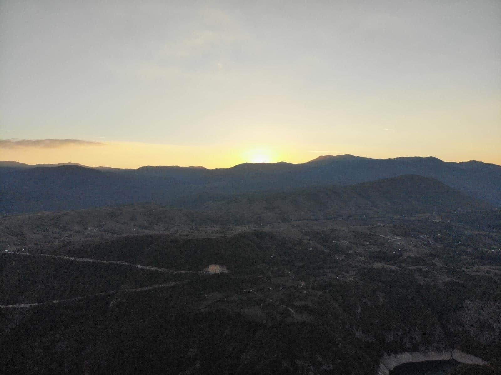 piva lake montenegro sunset