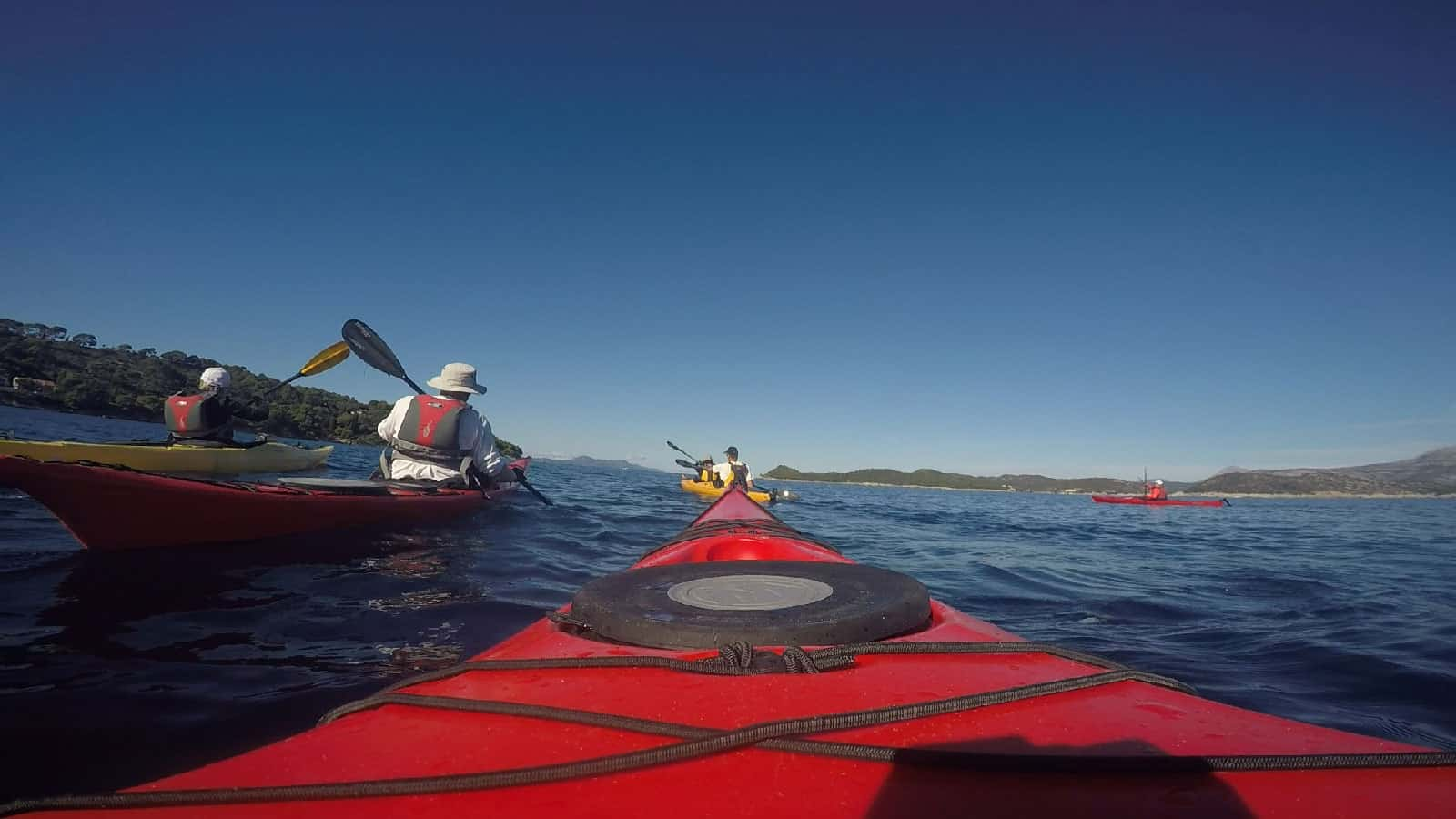 sea kayaking lopud island croatia adriatic sea