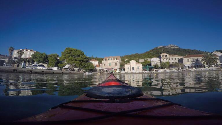 sea kayaking lopud island dubrovnik croatia adriatic sea