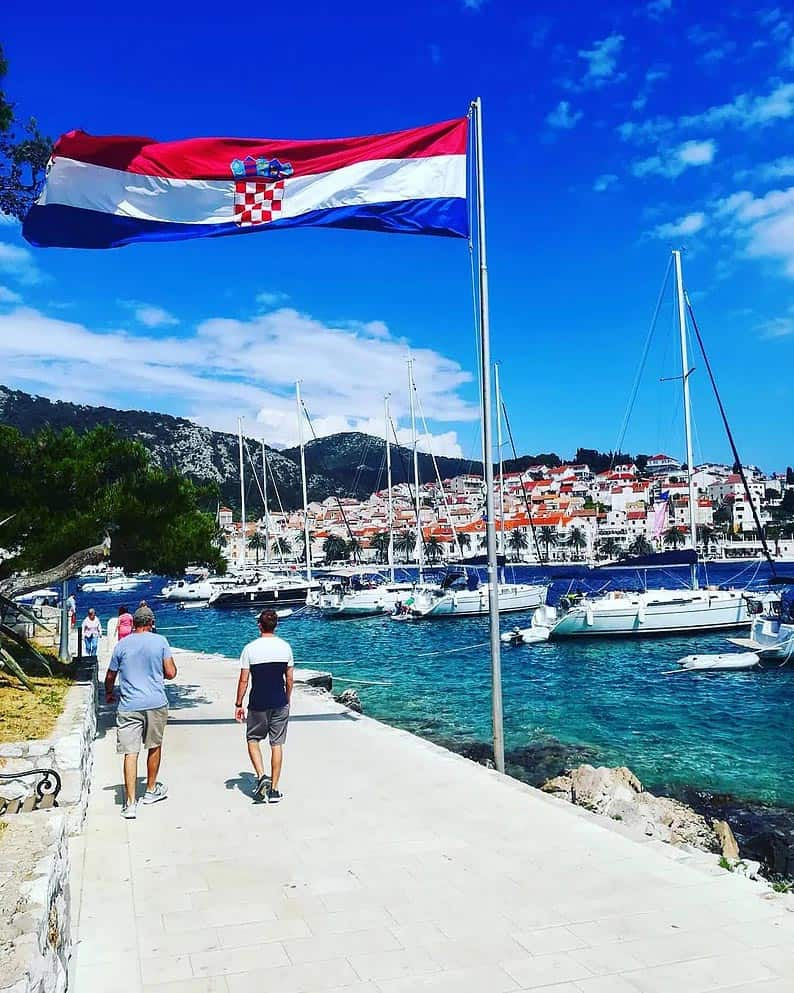 statehood day in croatia celebration on hvar island