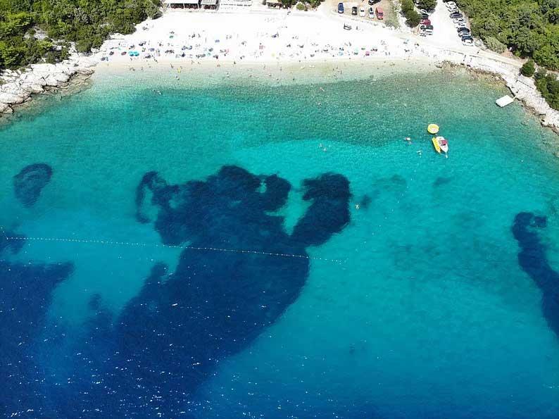 brsecine beach adriatic sea dubrovnik croatia