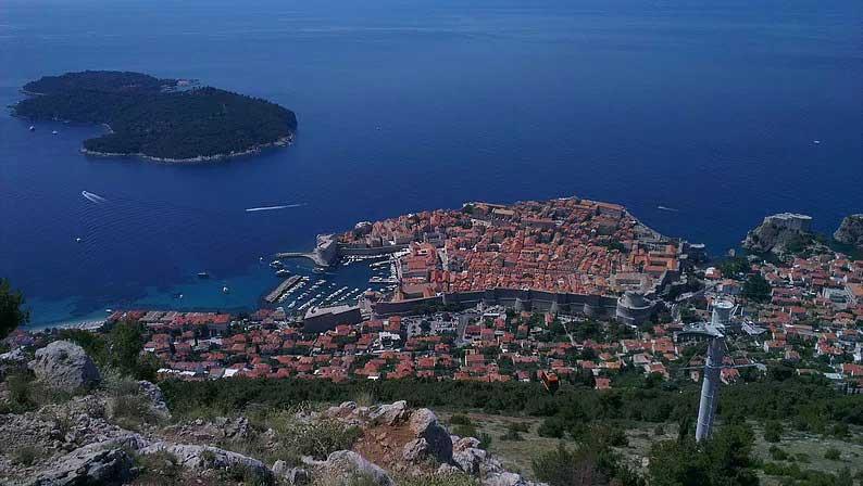 viewpoint on srd mountain dubrovnik croatia