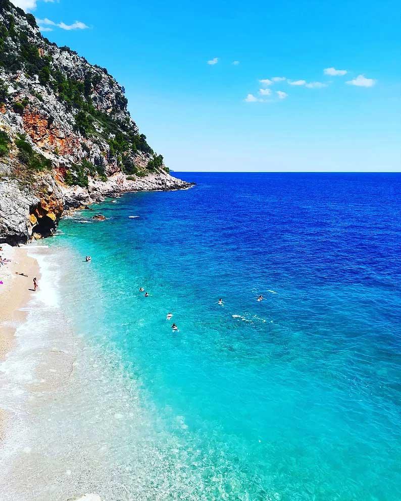 pasjaca beach dubrovnik croatia adriatic sea