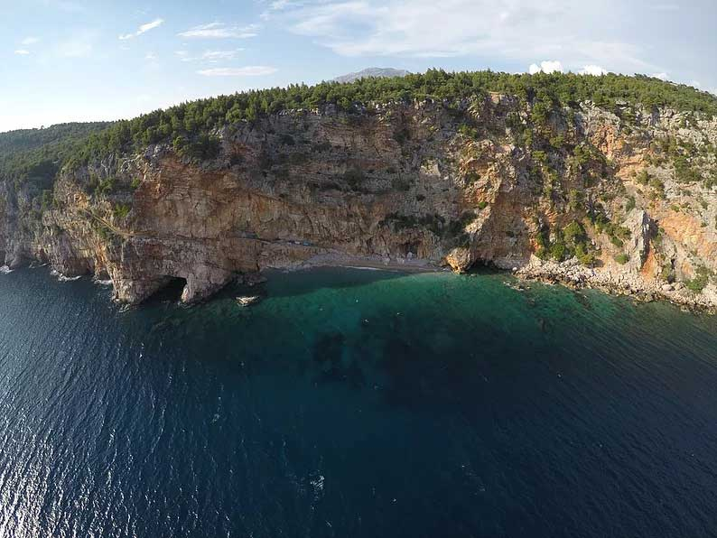 pasjaca beach drone view dubrovnik croatia