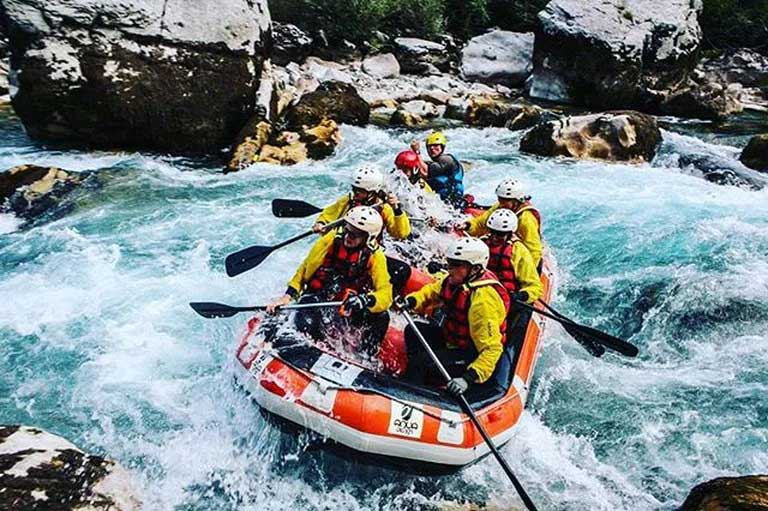 whitewater rafting on tara river in montenegro