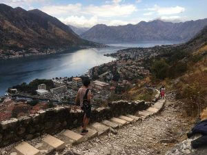 hilltop fortress hiking in kotor montenegro