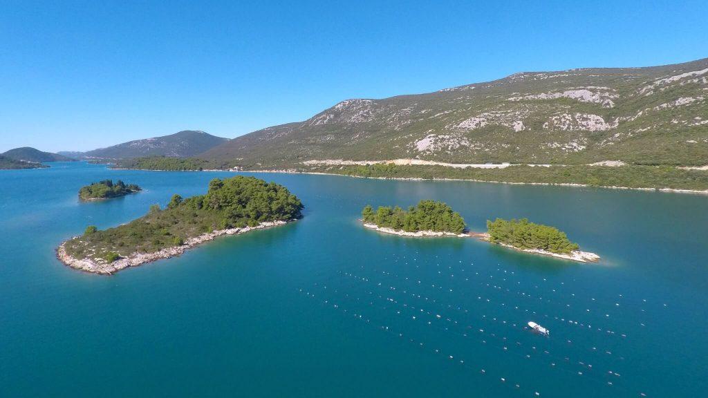 Oyster farm in Mali Ston, Croatia