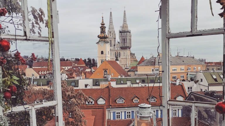 View of Zagreb, Croatia from the Upper Town