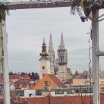 View of the Zagreb Cathedral from Upper Town