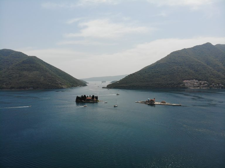 Kotor bay from above