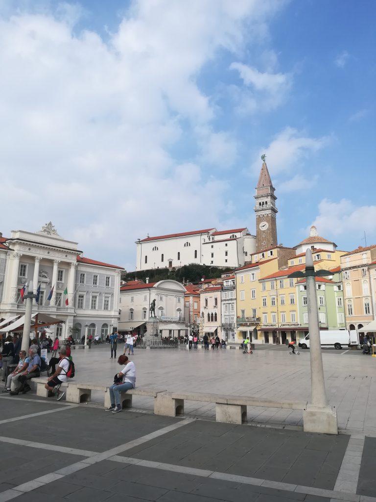 Tartini square in Piran town, Slovenia